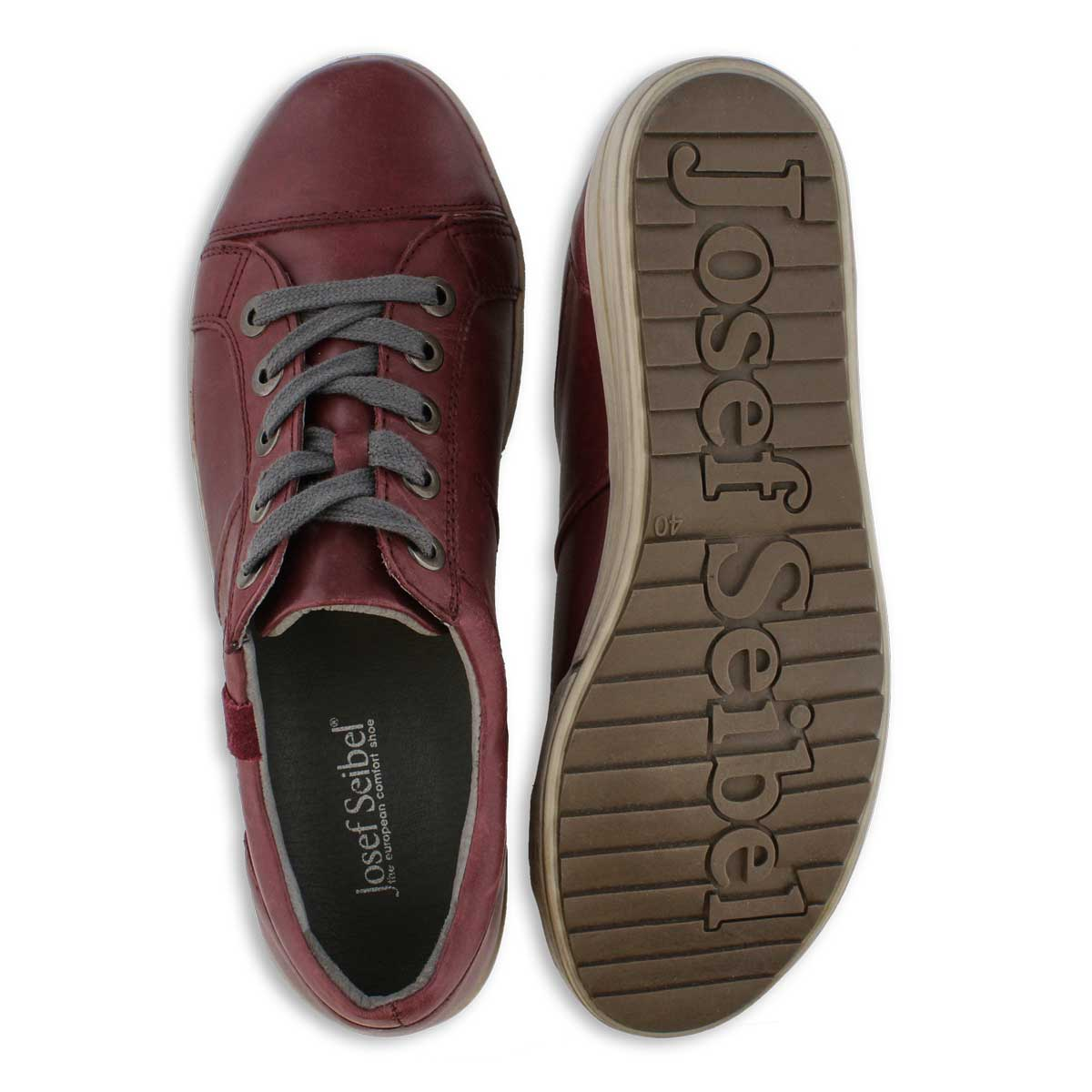 Lds Dany59 bordo lace up casual snkr
