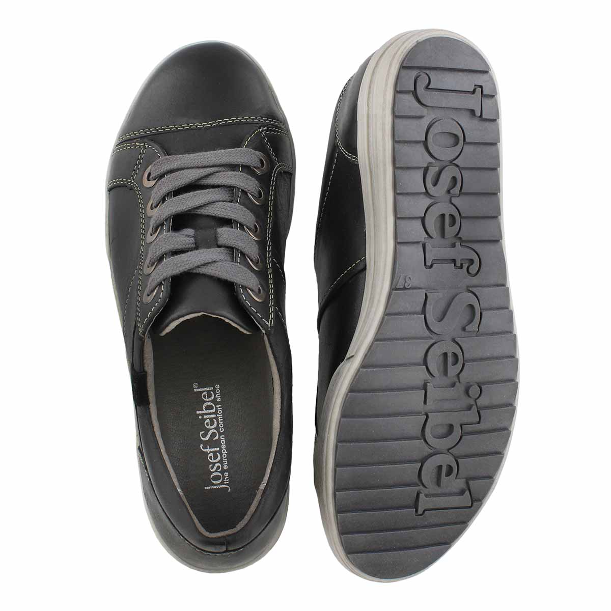 Lds Dany59 black lace up casual snkr