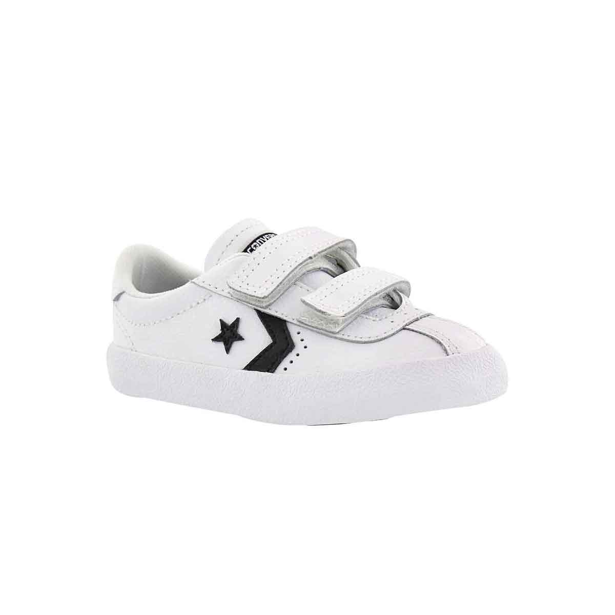 Infants' BREAKPOINT white/black leather sneakers