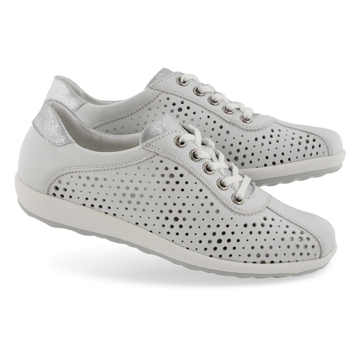 Lds Viola 09 white lace up sneaker