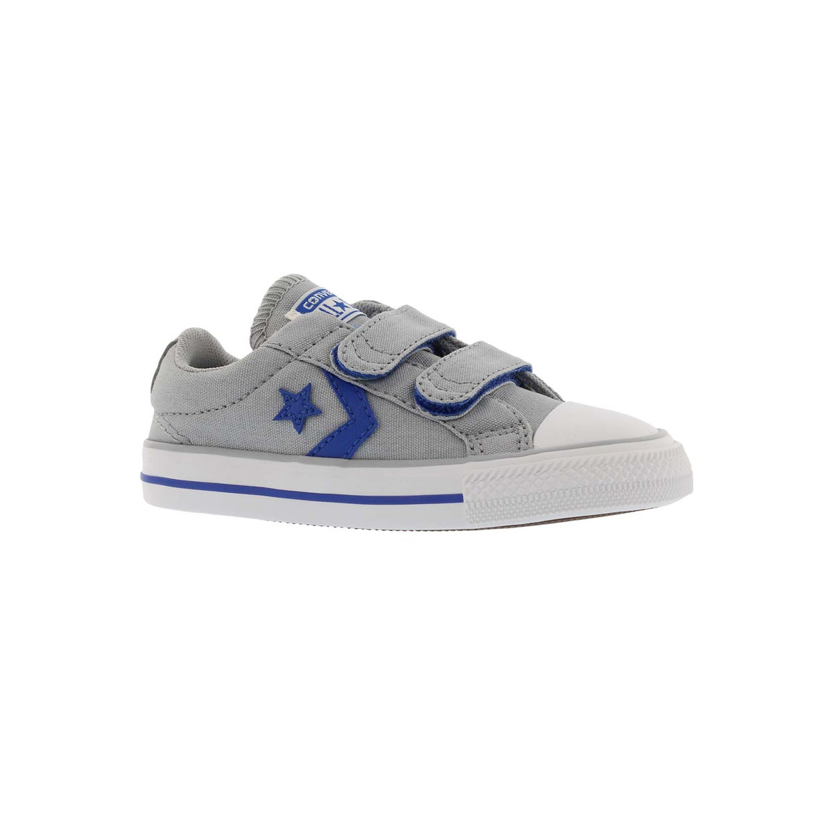 Infants' STAR PLAYER 2V gry/blu/wt sneakers