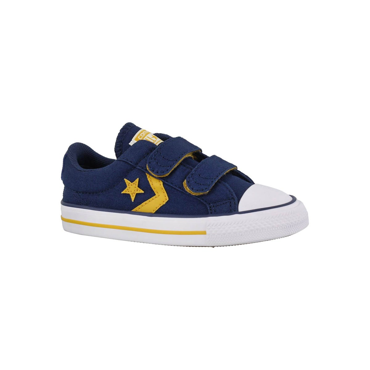 Infants' STAR PLAYER 2V navy/yellow/white sneakers