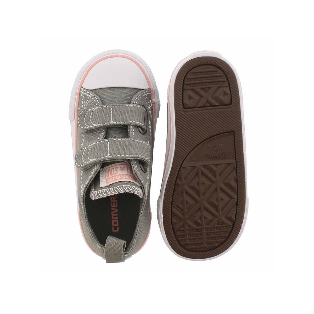 Infs-g CTAS 2V stucco/coral sneaker