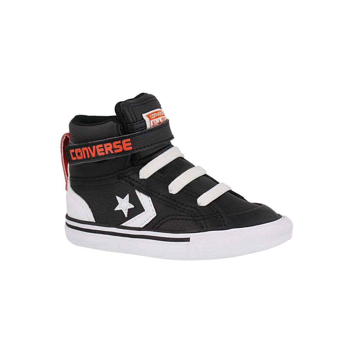 Infants' PRO BLAZE blk/wht/red sneakers