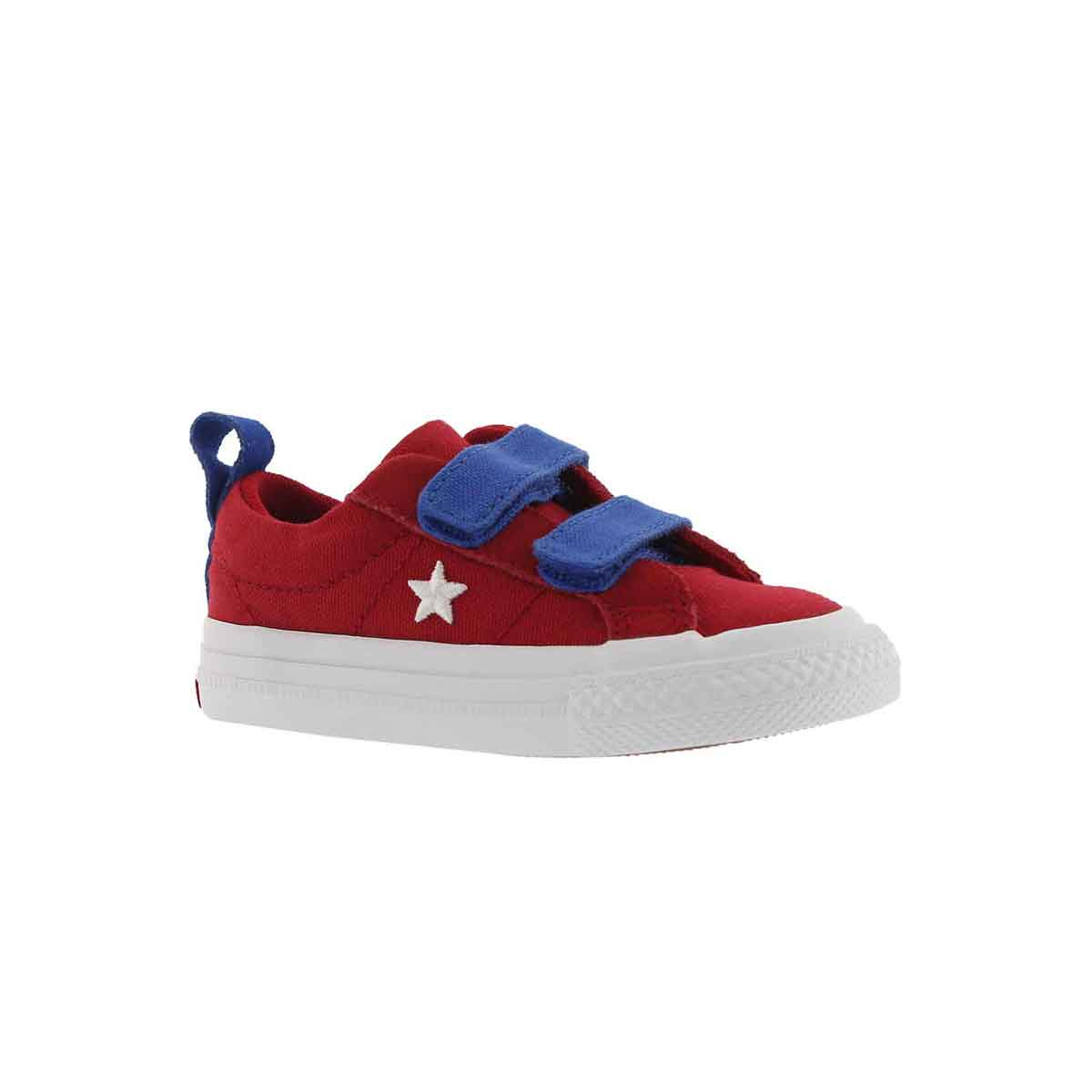 Infs-g One Star 2V gym red/wht  sneaker