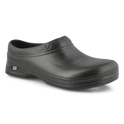 Skechers Work Women's OSWALD CLARA black slip-resistant clogs