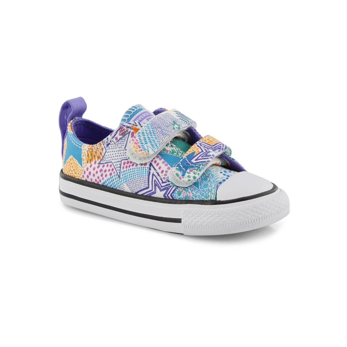 Infs V2 Ox wht/multi canvas sneaker