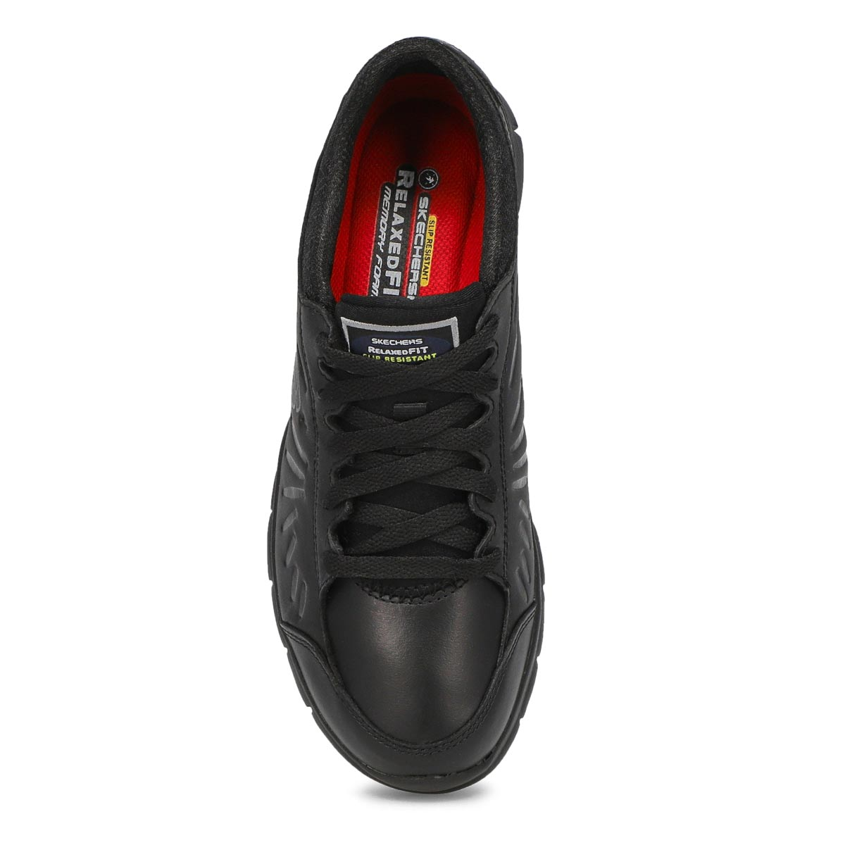 Lds Eldred black slip-resis lace-up work