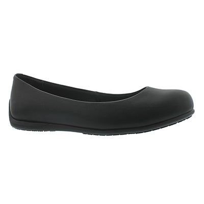 Skechers Work Women's TRANSPIRE black slip-resistant flats