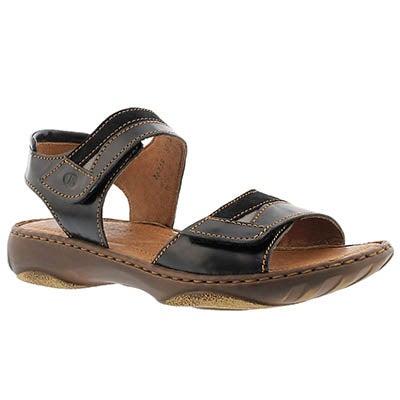 Josef Seibel Women's DEBRA 19 black casual 2 strap sandals