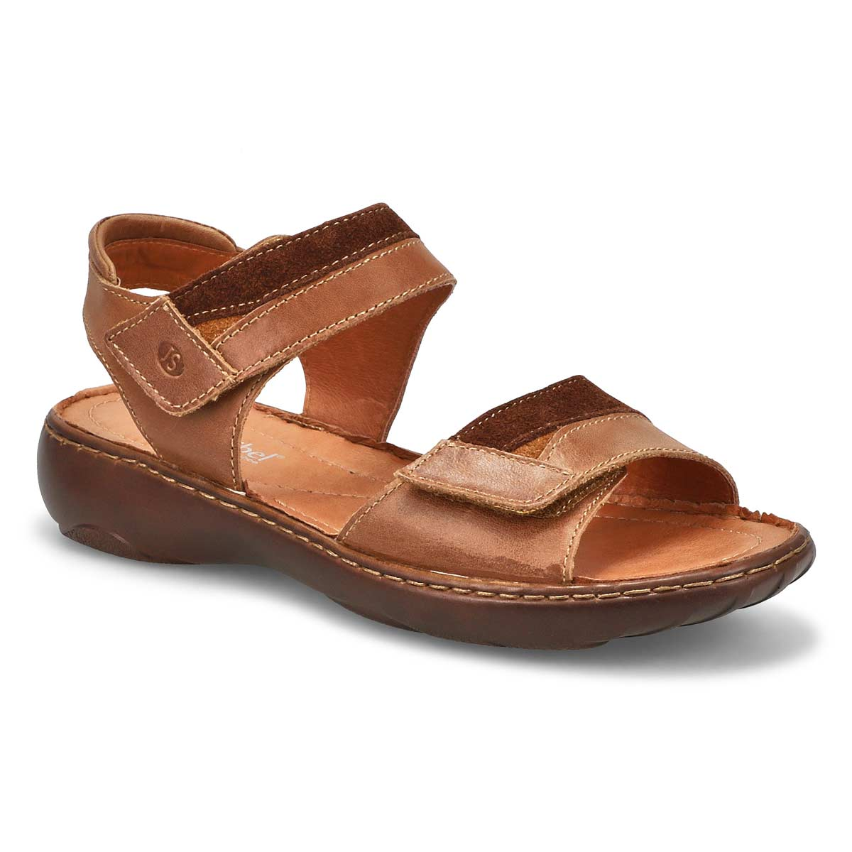 Lds Debra 19 brown casual 2 strap sandal
