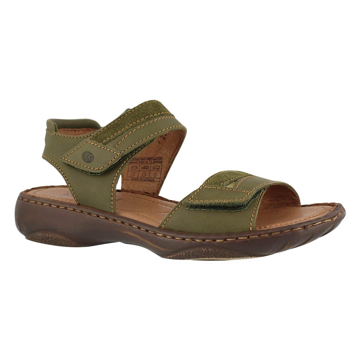 Women's DEBRA 19 olive casual 2 strap sandals