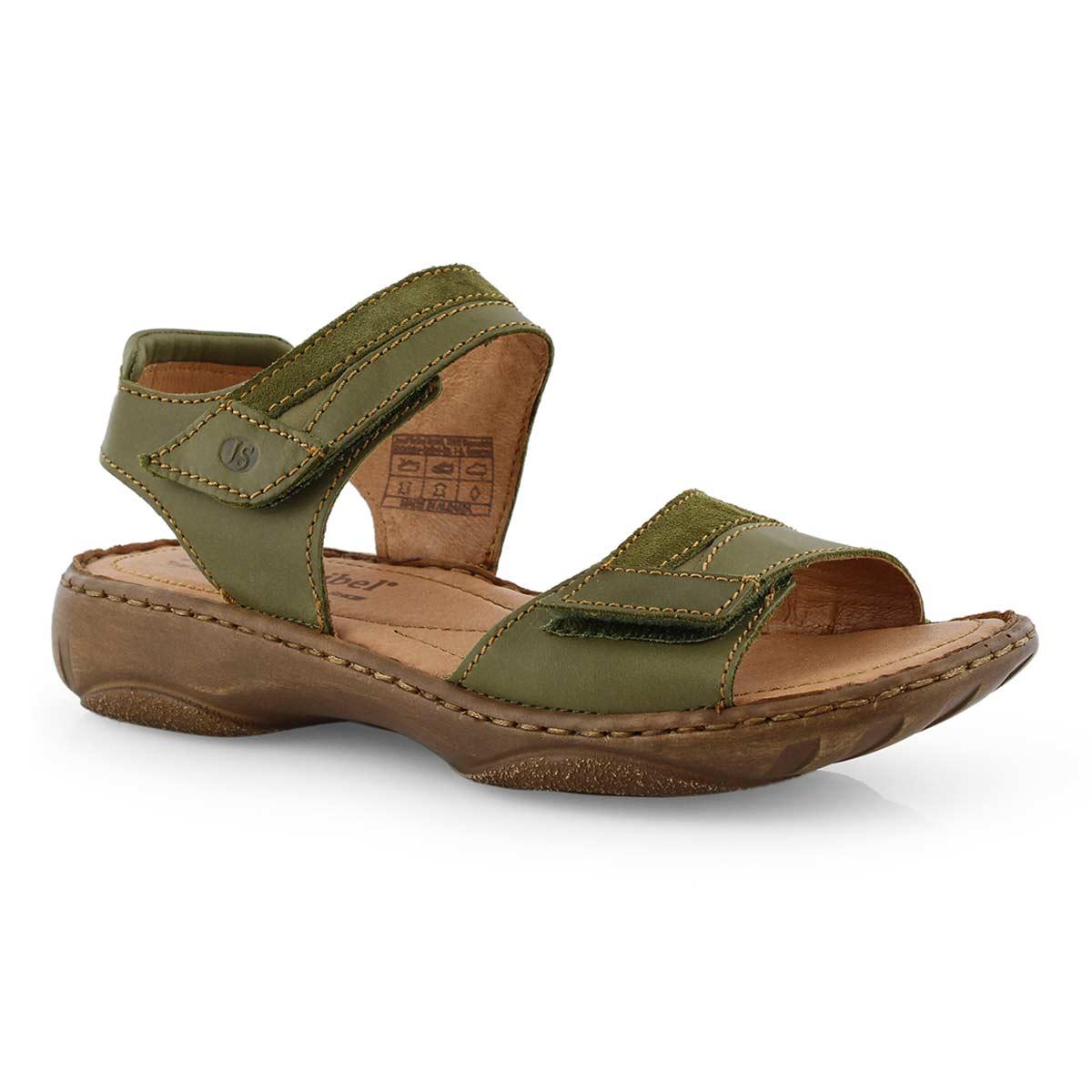 Lds Debra 19 olive casual 2 strap sandal