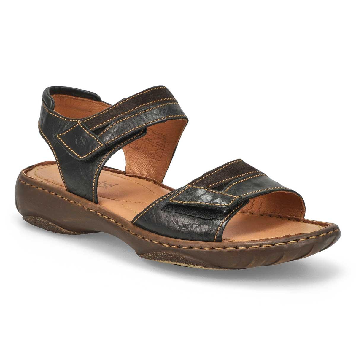 Women's DEBRA 19 black casual 2 strap sandals