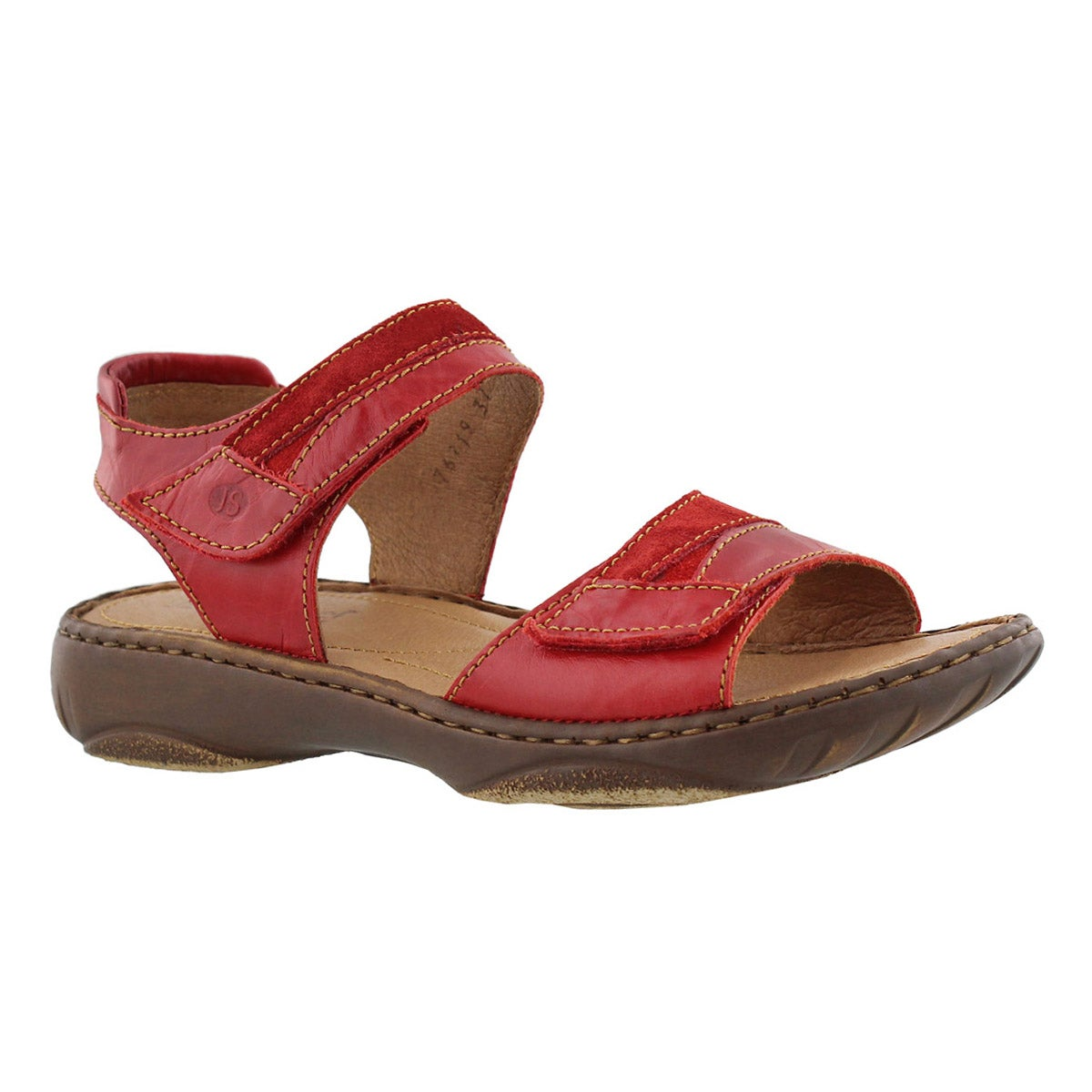 Lds Debra 19 red casual 2 strap sndl