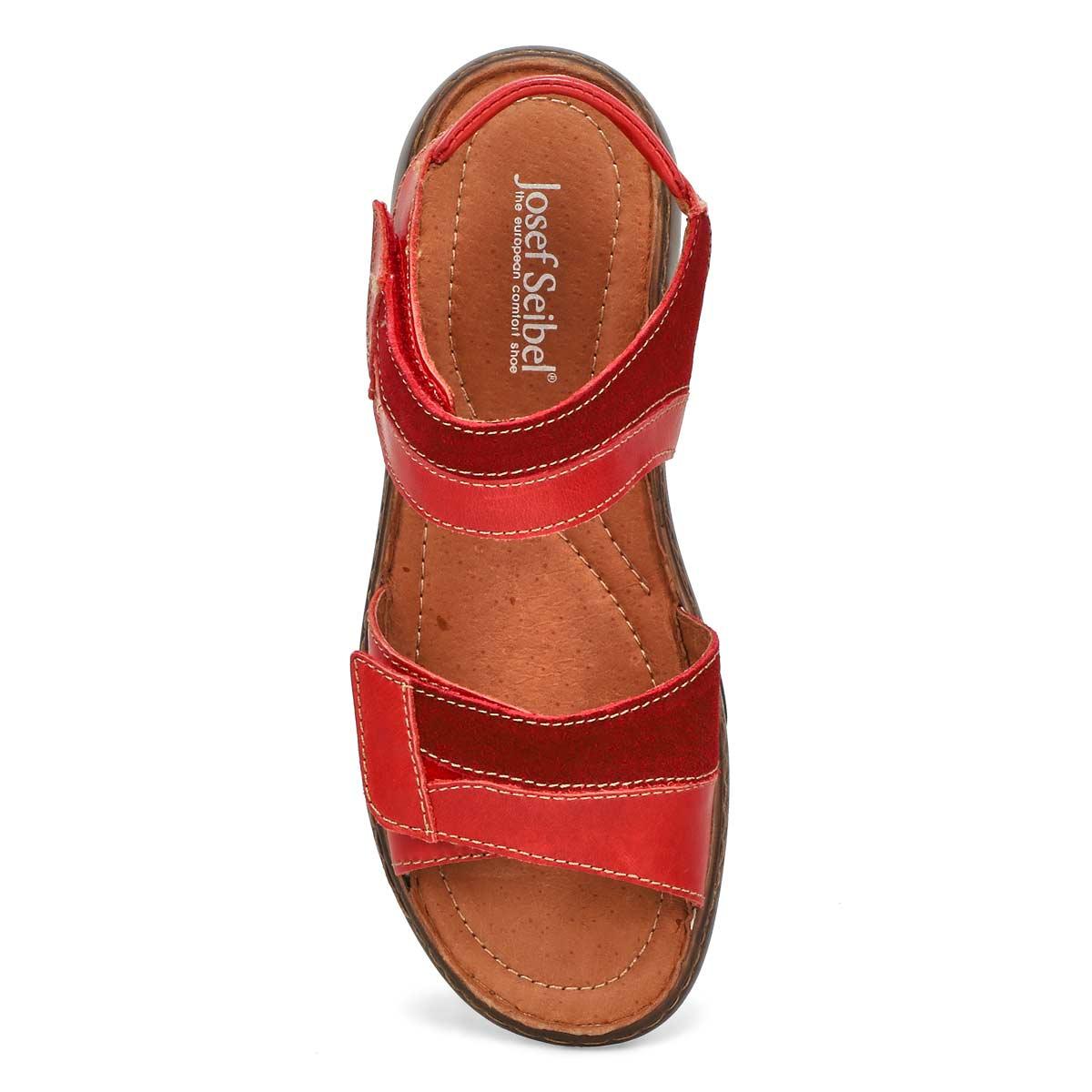 Lds Debra 19 red casual 2 strap sandal