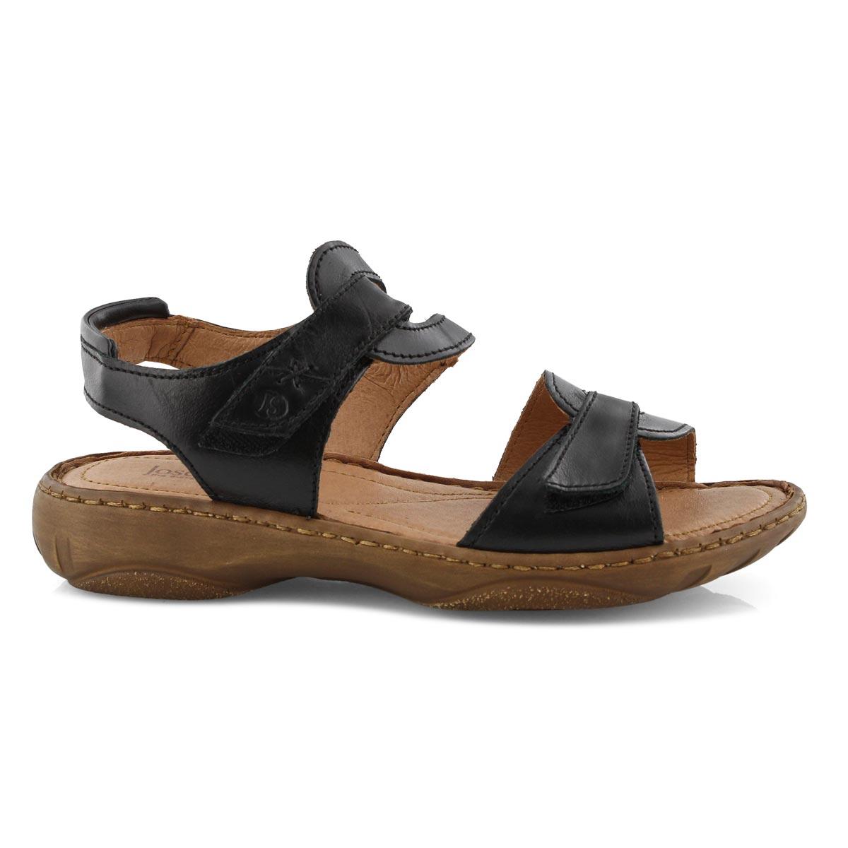Lds Debra 39 black casual 2 strap sandal