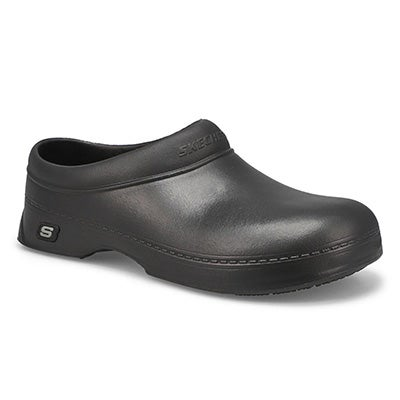 Skechers Work Men's OSWALD BALDER black slip-resistant clogs