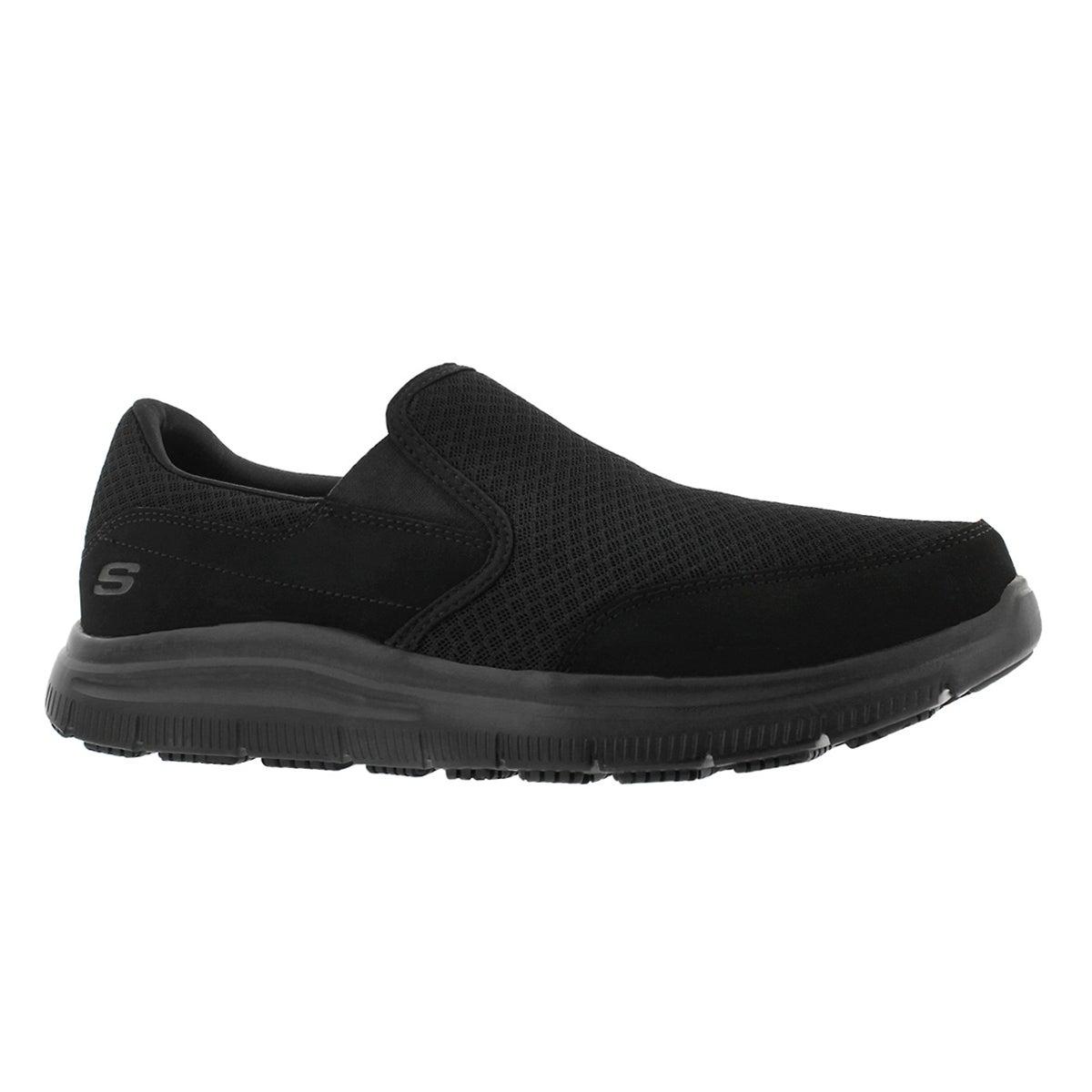 Men's McALLEN black slip resistant slip ons work