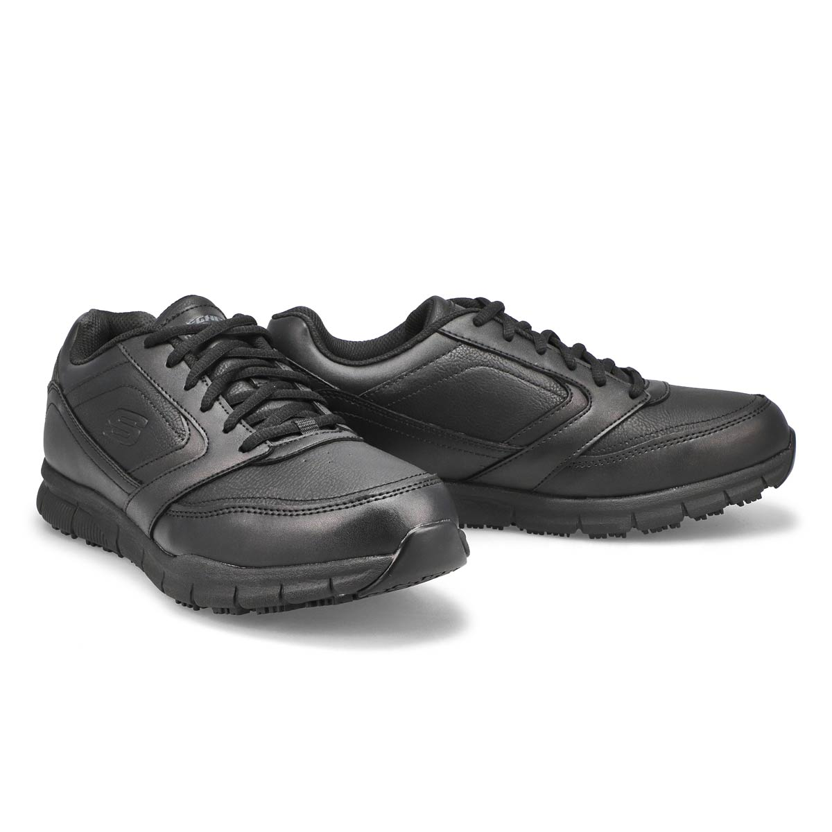 Mns Nampa blk lace up non-slip sneaker