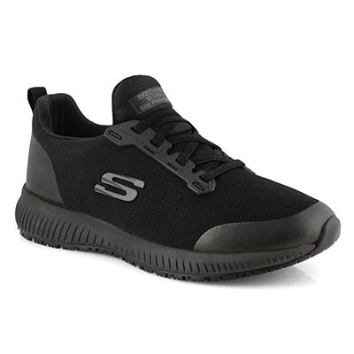 Lds Squad black slip-resis slipon work