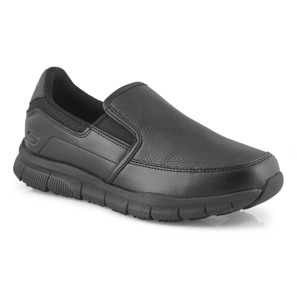 Lds Nampa Annod blk slip resistant shoe