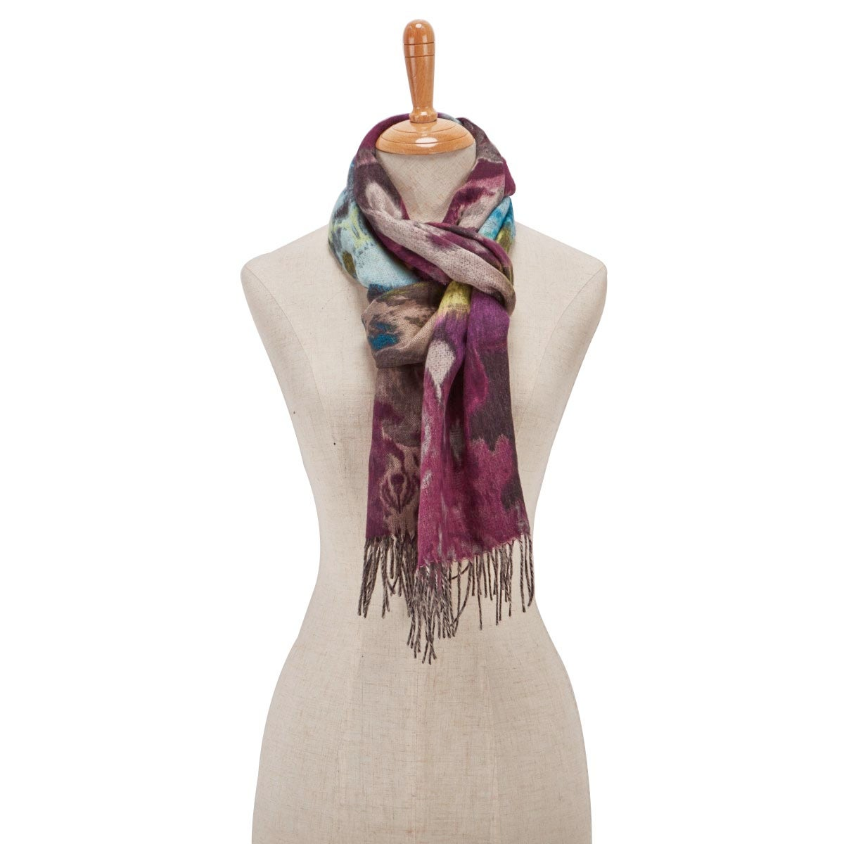 Lds Autumn Floral berry scarf