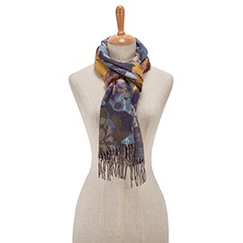 Lds Autumn Floral denim scarf