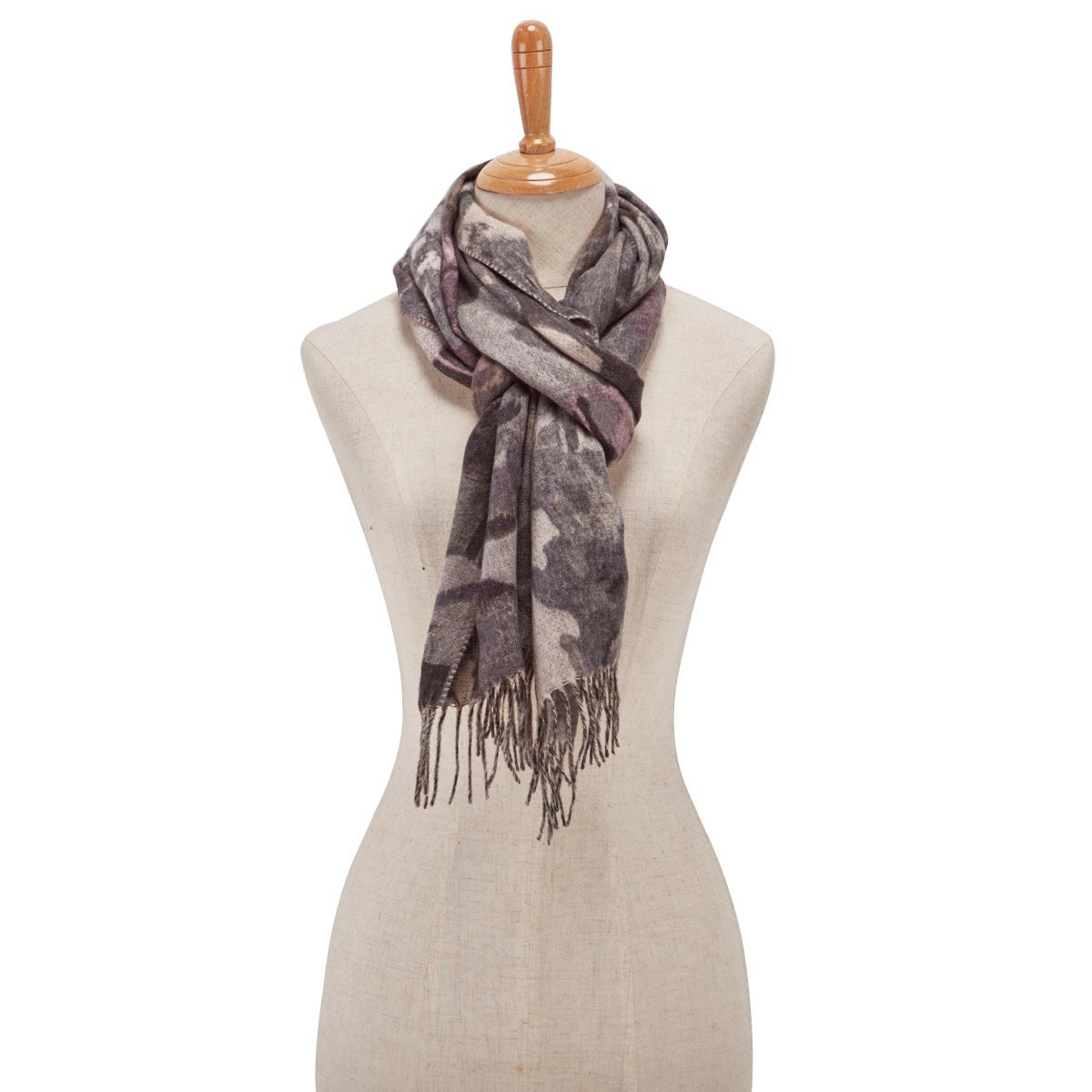 Lds Autumn Floral taupe scarf