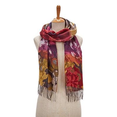 Lds Autumn Floral multi scarf