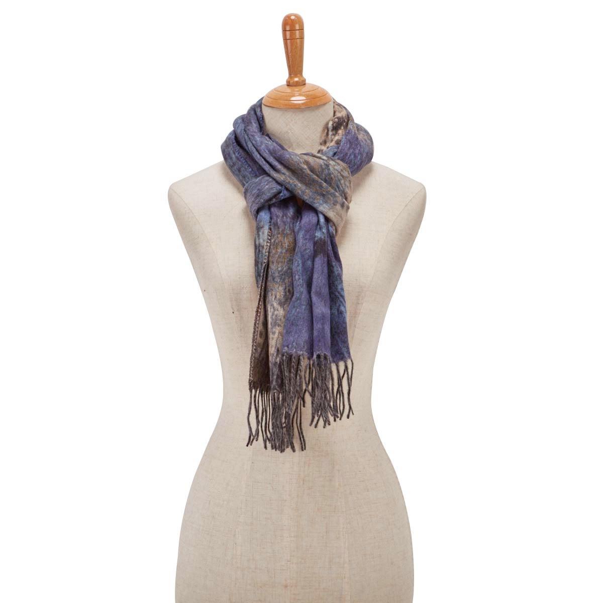 Lds Multi Paisley denim scarf