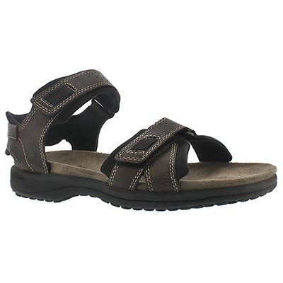Mns Keating brown 2 strap sandal