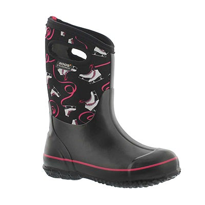 Bogs Girls' CLASSIC ICE SKATES black multi boots