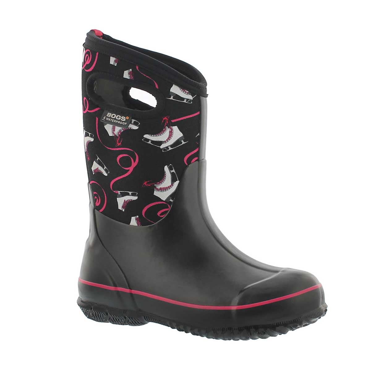 Girls' CLASSIC ICE SKATES black multi boots
