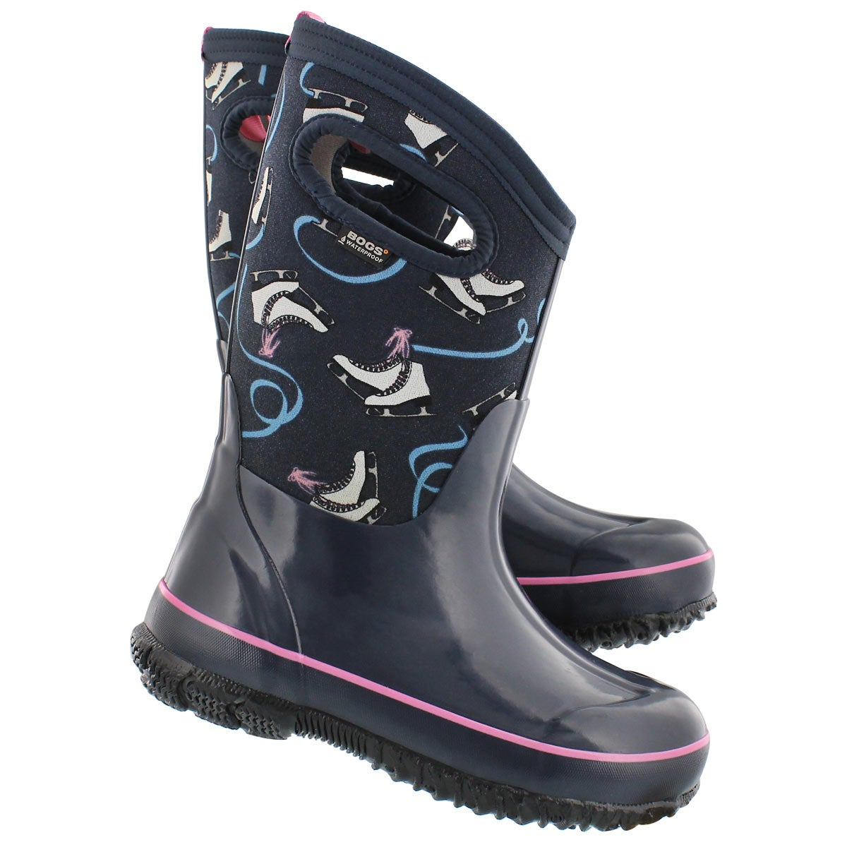 Grls Classic Ice Skates nvy multi boot