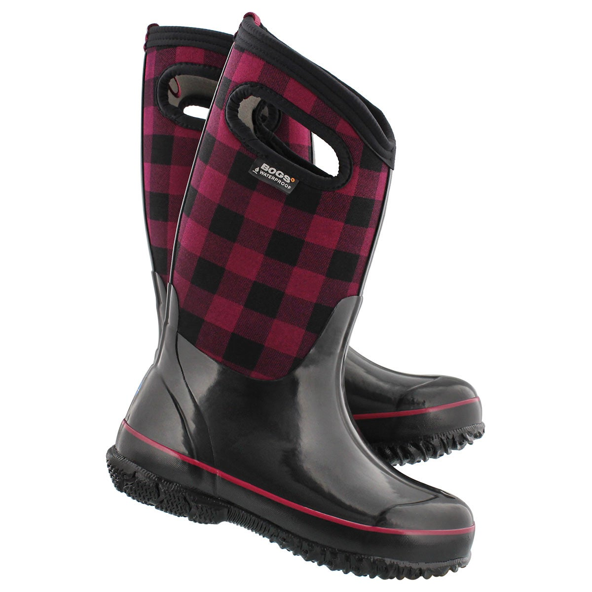 Grls Classic Buffalo Plaid red boot