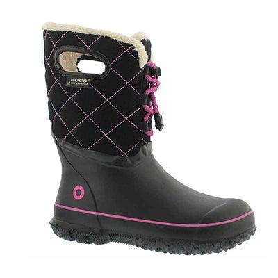 Grls Juno black/multi wtpf boot