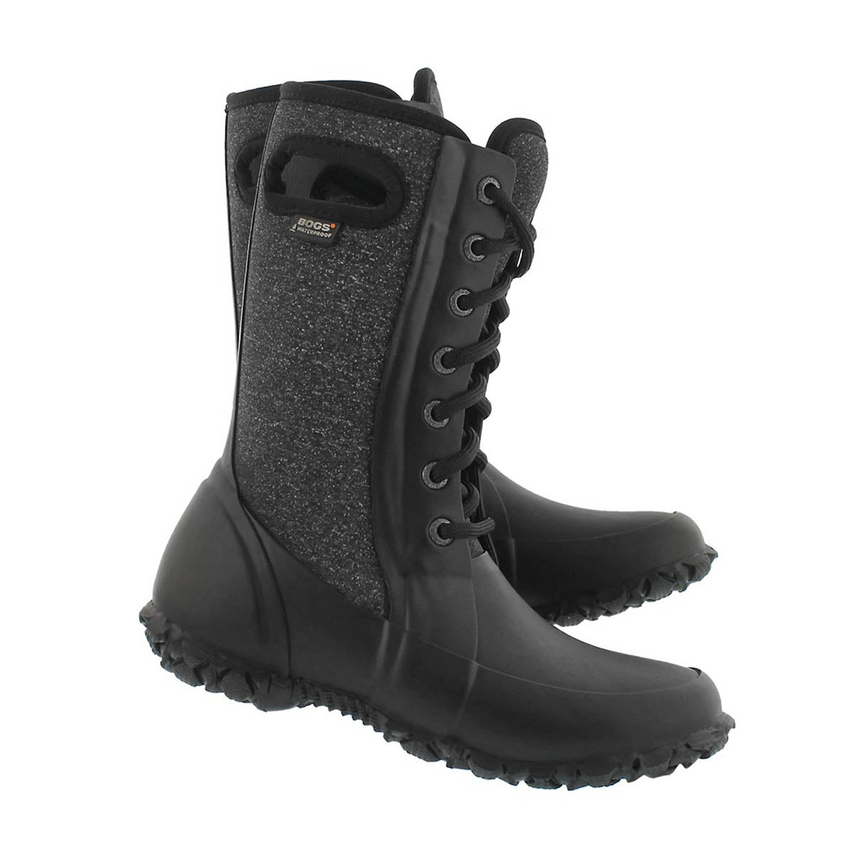 Grls Cami black wtpf lace up boot