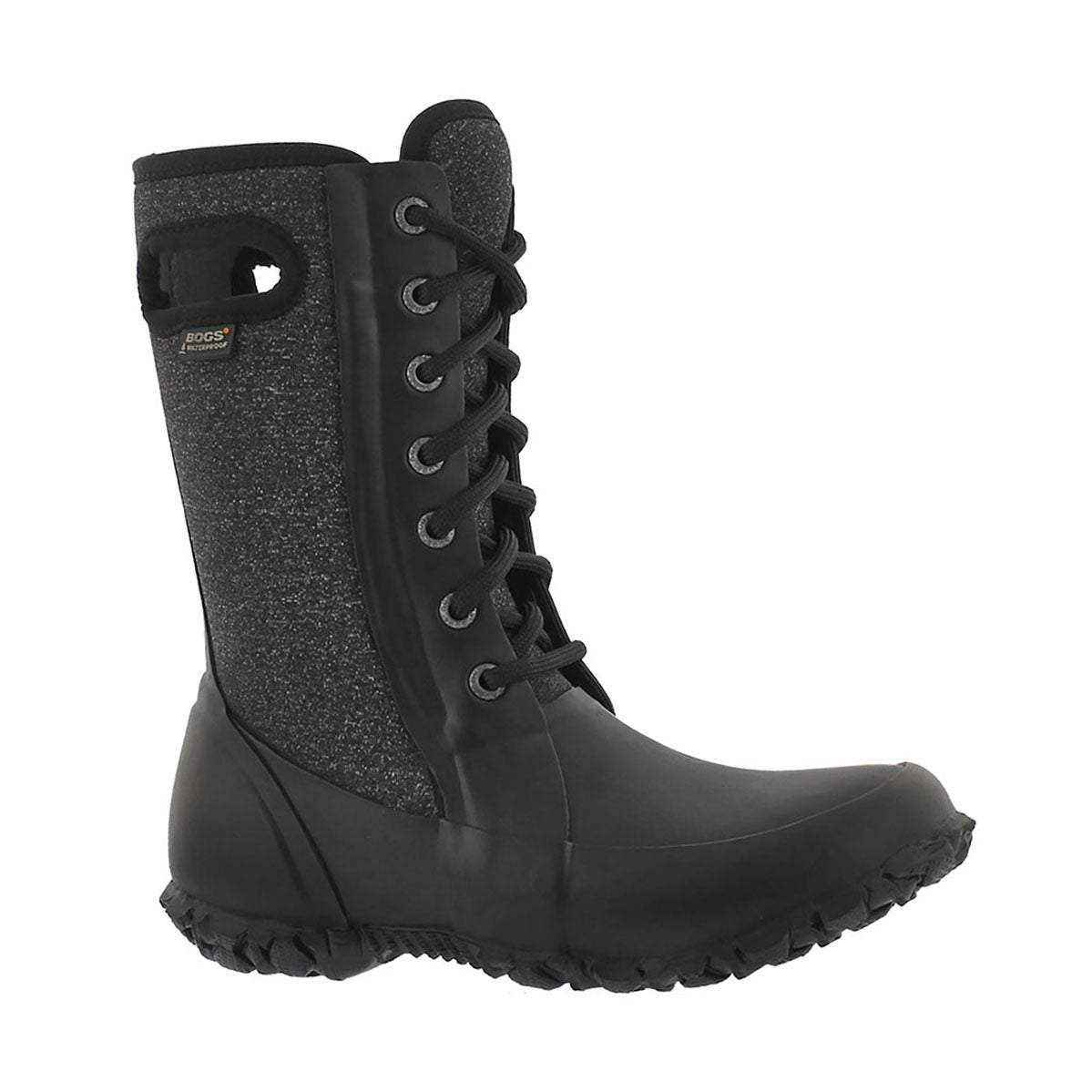 Girls' CAMI black waterproof lace up boots