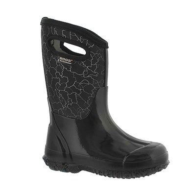 Kds Classic Crackle black wtpf boot