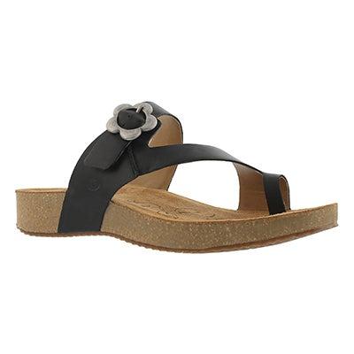 Lds Tonga 23 black toe ring sandal