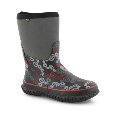 Bys Stomper Gears blk/red wtpf boot