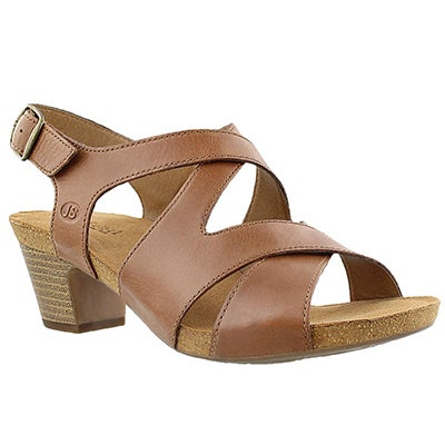 Josef Seibel Women's RUTH 15 brown cross strap dress sandals
