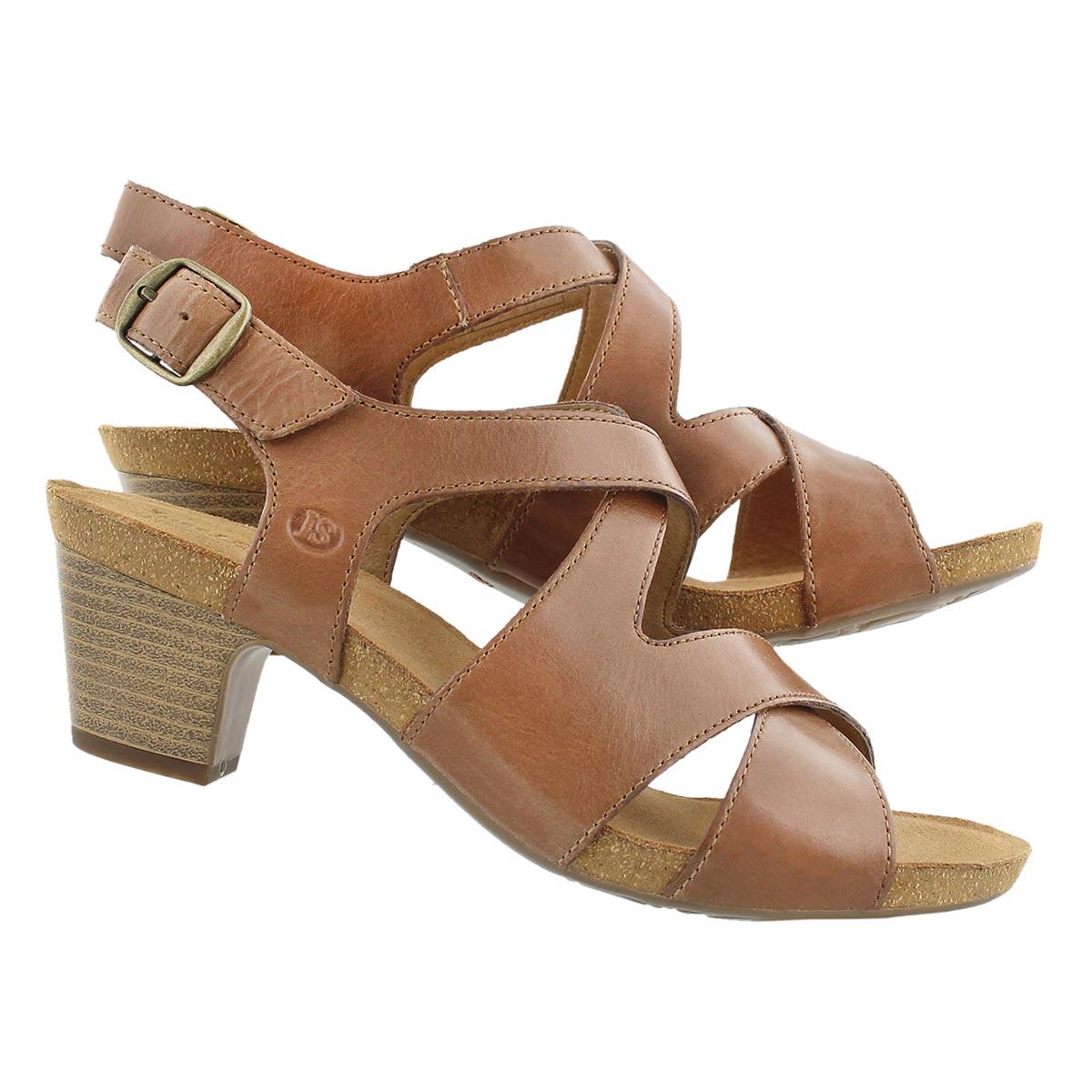 Lds Ruth 15 brn cross strap dress sandal