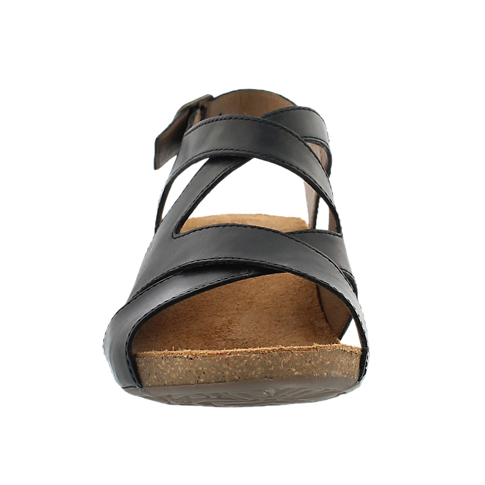 Lds Ruth 15 blk cross strap dress sandal