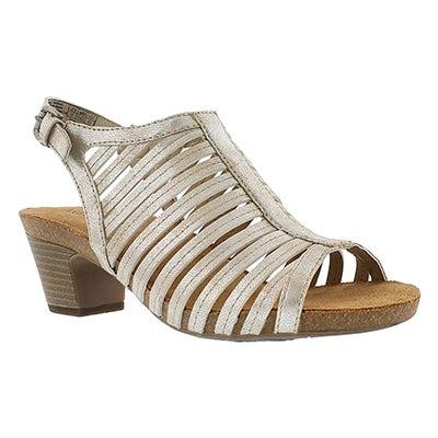 Josef Seibel Women's RUTH 21 natural cut out dress sandals