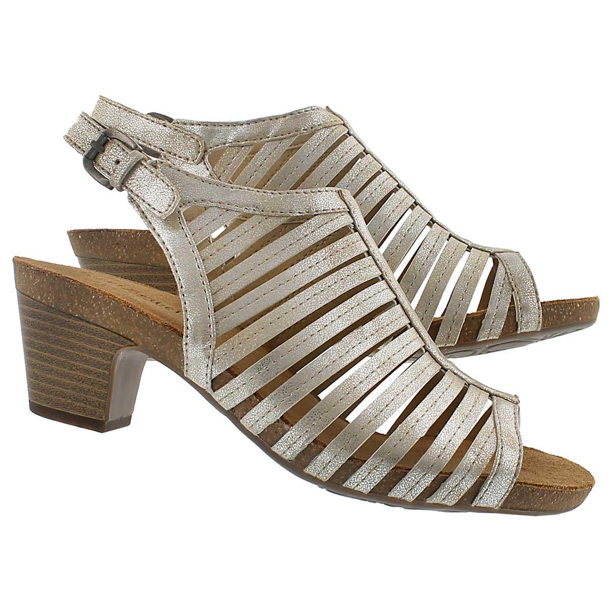 Lds Ruth 21 natural cut out dress sandal