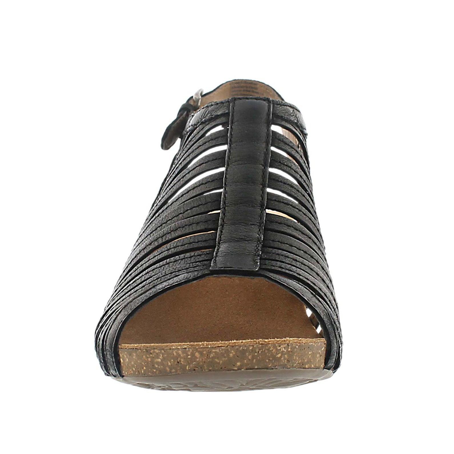 Lds Ruth 21 black cut out dress sandal