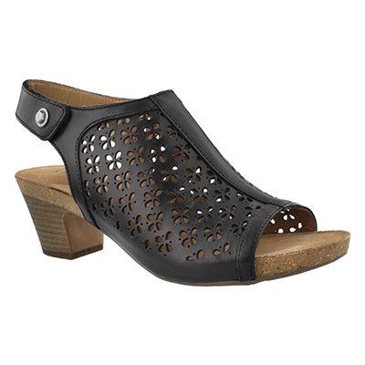 Lds Ruth 33 black dress sandal