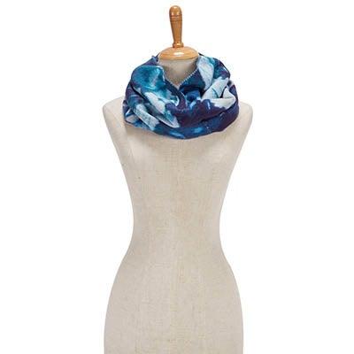Lds Floral Loop azure scarf
